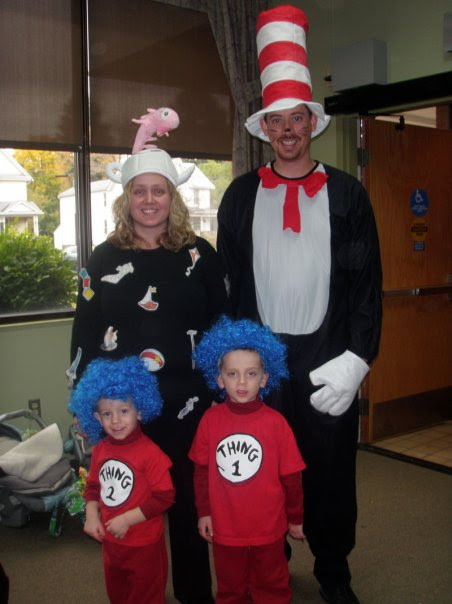 Cat In The Hat Family Costumes Costume Pop
