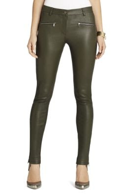 BCBGMAXAZRIA Gayl Zip-Pocket Leather Leggings