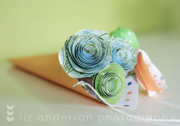 paper flower bouquet for may day