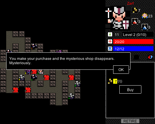Desktop Dungeons -- bought from a shop
