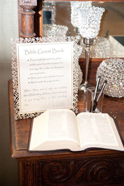 Bible guest book! We say awesome! This couple had the