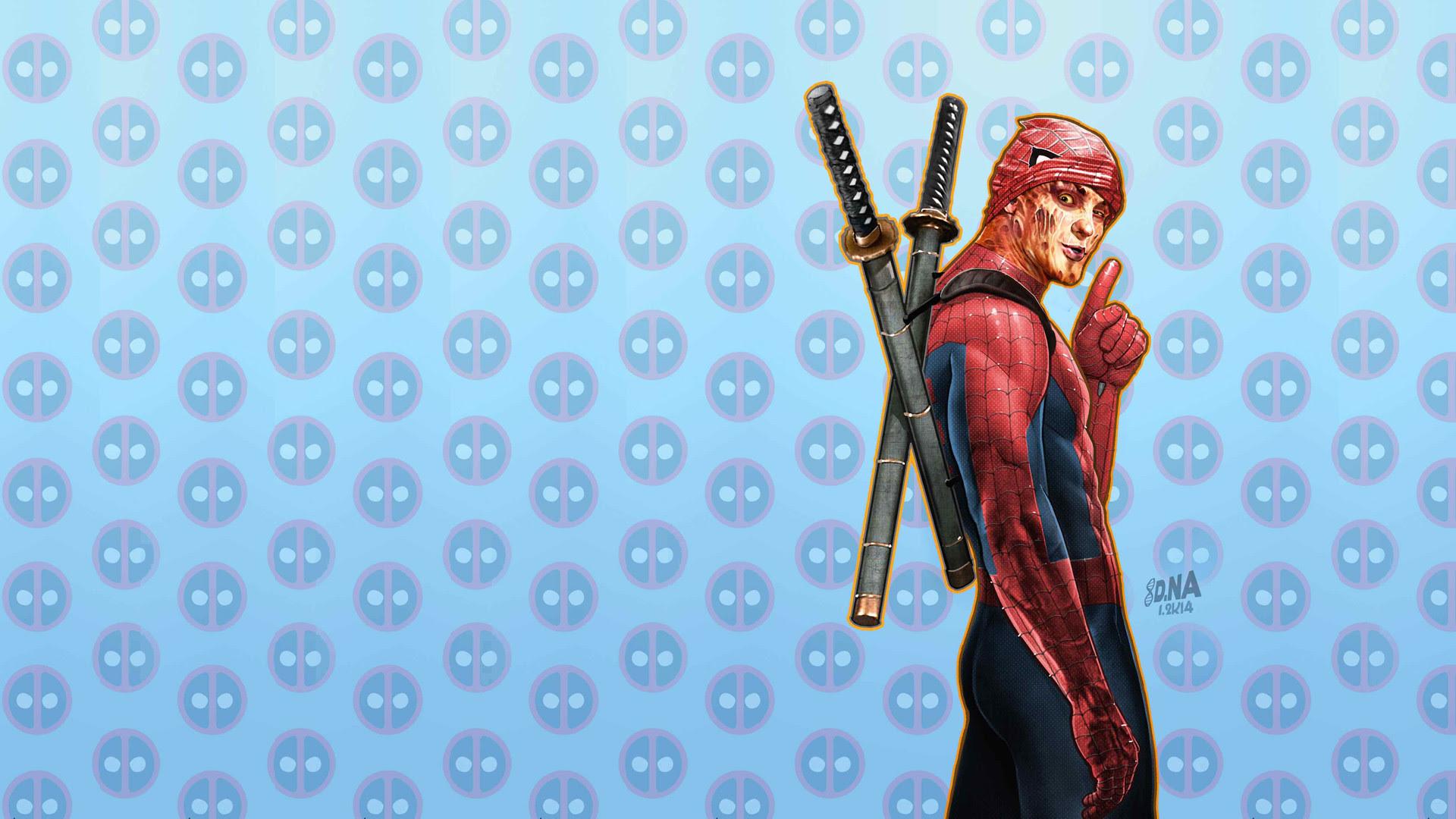 Blue Deadpool Wallpaper