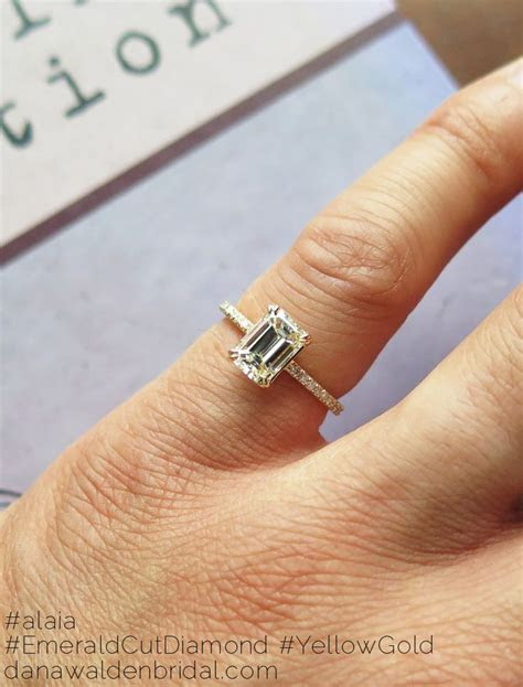 1000  ideas about Emerald Cut Engagement Rings on