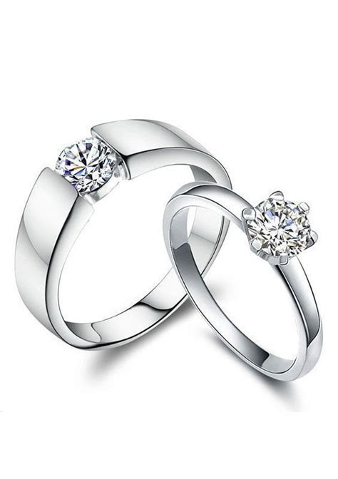 Cheap Diamond Engagement Rings for Women and Men, Simple