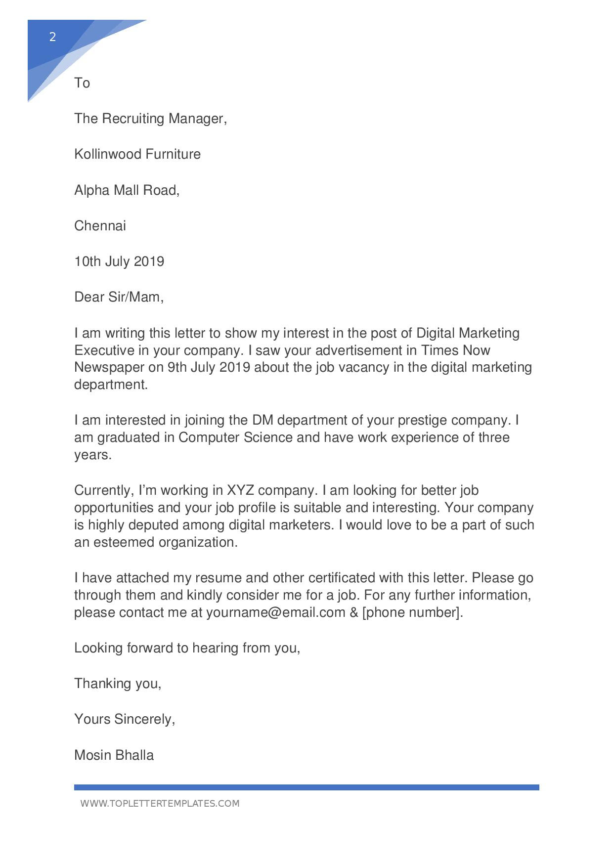 Application Letter For A Job Vacancy from lh5.googleusercontent.com