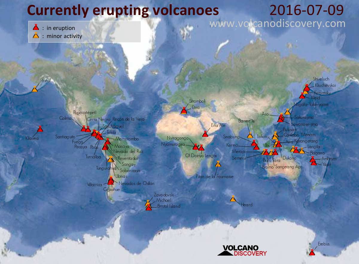 7/8/16 Volcano Discovery Active Volcanoes Map
