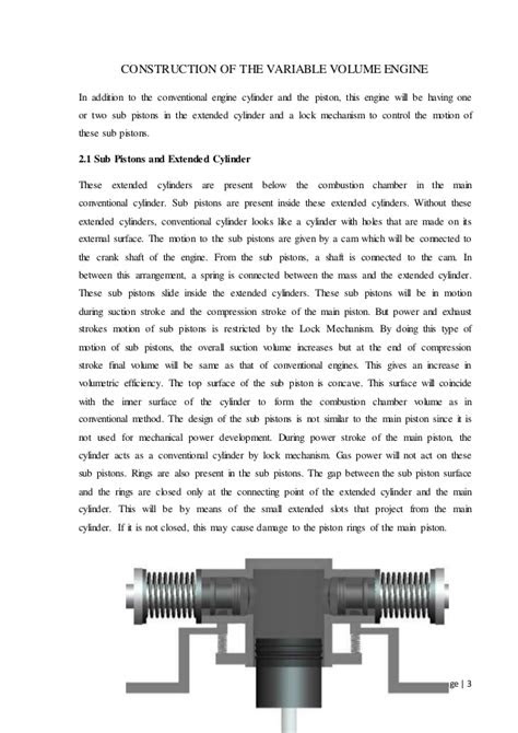 Variable Volume Engine Report