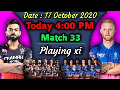 IPL 2020 - Match 33 | Rajasthan Royals vs Royal Chellengers Bangalore Playing xi | RCB vs RR Match