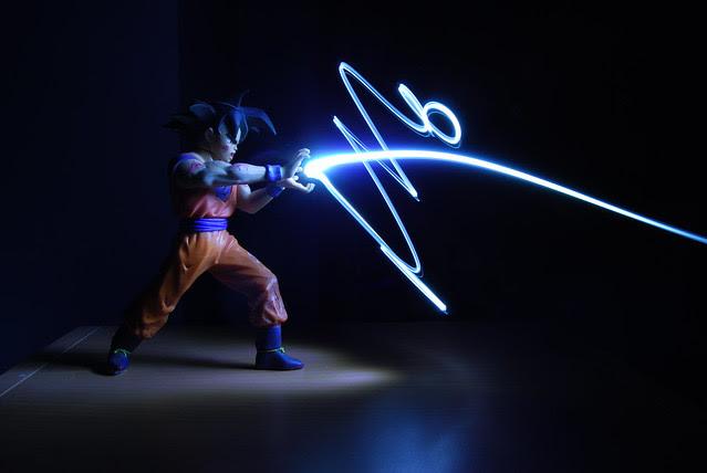 Light Graffiti - Goku w/ Kamehameha Blast