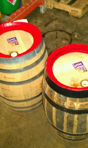 Oak beer barrels