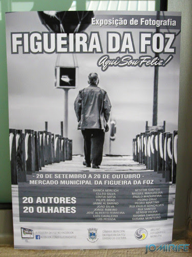 Montagem da exposição colectiva de Fotografia «Figueira da Foz, aqui sou feliz» em comemoração do 131º aniversário da Elevação da Figueira da Foz a Cidade - Cartaz