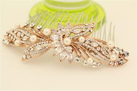 Bridal Hair Comb Rose Gold Wedding Hair Comb Wedding Hair