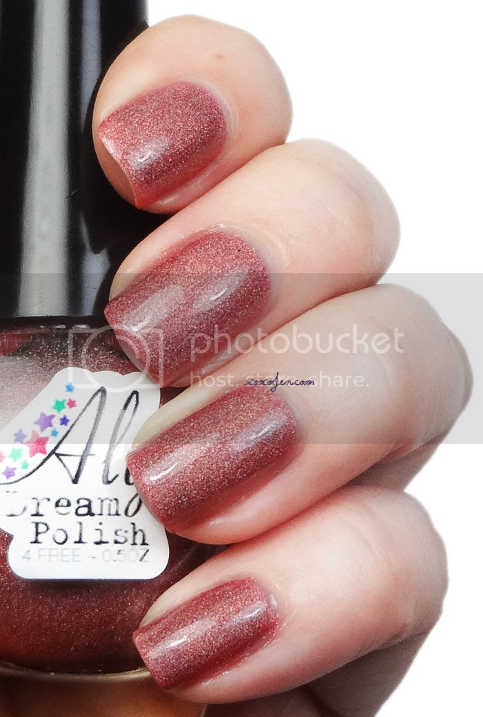 xoxoJen's swatch of Aly's Dream Polish Salmon