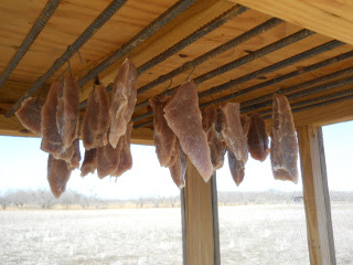 Drying Brined Pork Ham Meat