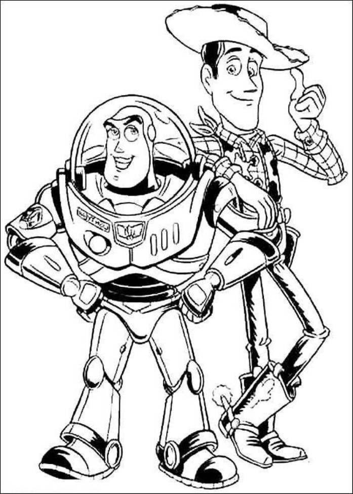 And Woody Colouring Pages - Coloring Home