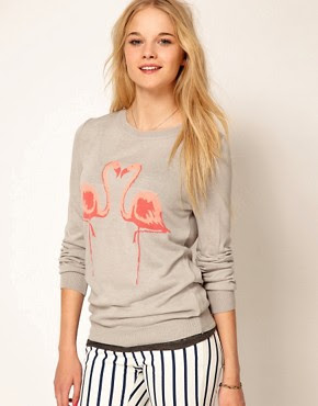 Image 1 - A|Wear - Pull à motif flamants roses