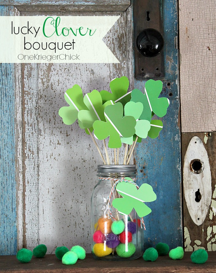Lucky-Clover-Bouquet-15-minute-craft