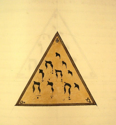triangle with hebrew script