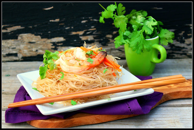 Chinese Glass Noodles with Shrimp