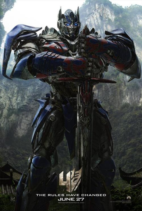 Transformers: Age of Extinction, Optimus Prime poster