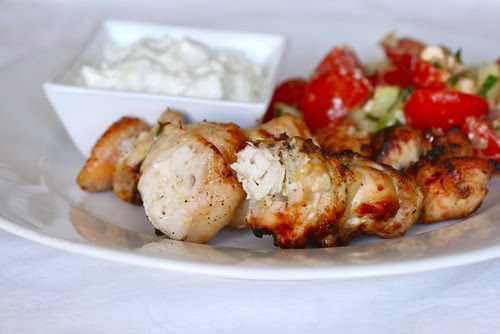 Garlic Lemon Chicken Kabobs | Annie's Eats