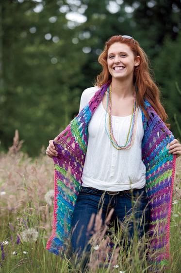 Amelia Broomstick Lace Long Vest - Crochet Pattern