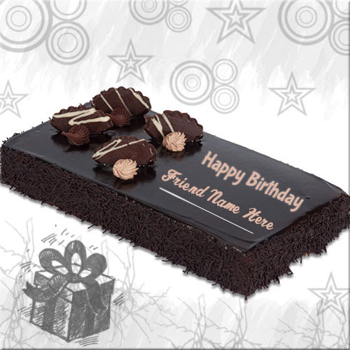 Happy Birthday Chocolate Cake Images With Name Editor Online - food