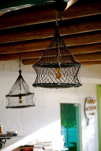 oyster nets - wire lampshades by good mood factory / Anita Damas