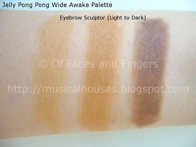 jelly pong pong eyebrow sculptor swatches