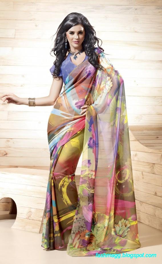 Printed-Saree-Indian-Pakistani-Beautiful-New-Fashionable-Sari-Collection-2013-4