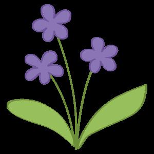 すみれ 花植物イラスト Flode Illustration フロデイラスト