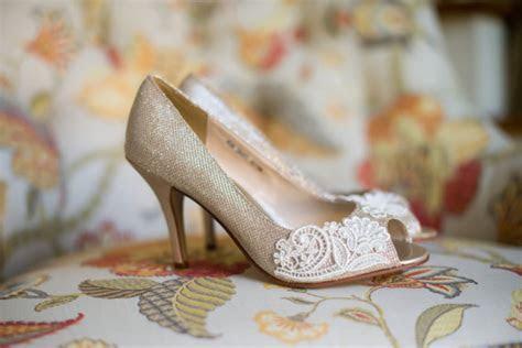 Wedding Shoes Gold Champagne Silver Metallic Peep Toe High