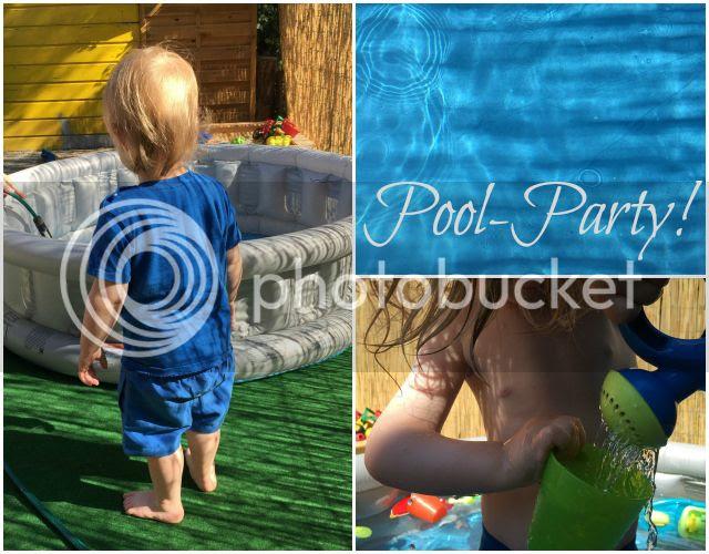 Poolparty im Garten