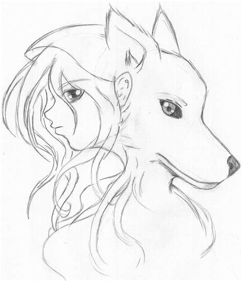 viewing gallery  simple wolf drawings  pencil art