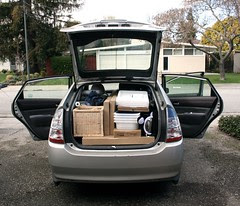 Prius packed with Ikea purchases