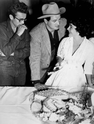 James Dean,Rock Hudson and Liz Taylor