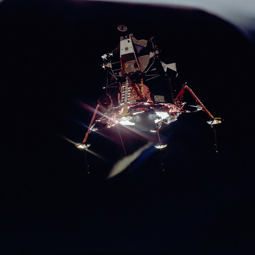Apollo 11 Mission image - View of Lunar Module separation from the Command Module by NASA Goddard Photo and Video