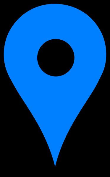 Map Pin Blue Clip Art At Clker Com Vector Clip Art