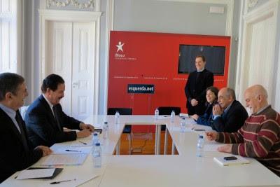 """Em cima da mesa esteve a proposta do Governo de uma nova Lei das Finanças Locais considerada """"gravosa"""" pela ANMP. Foto de Paulete Matos."""