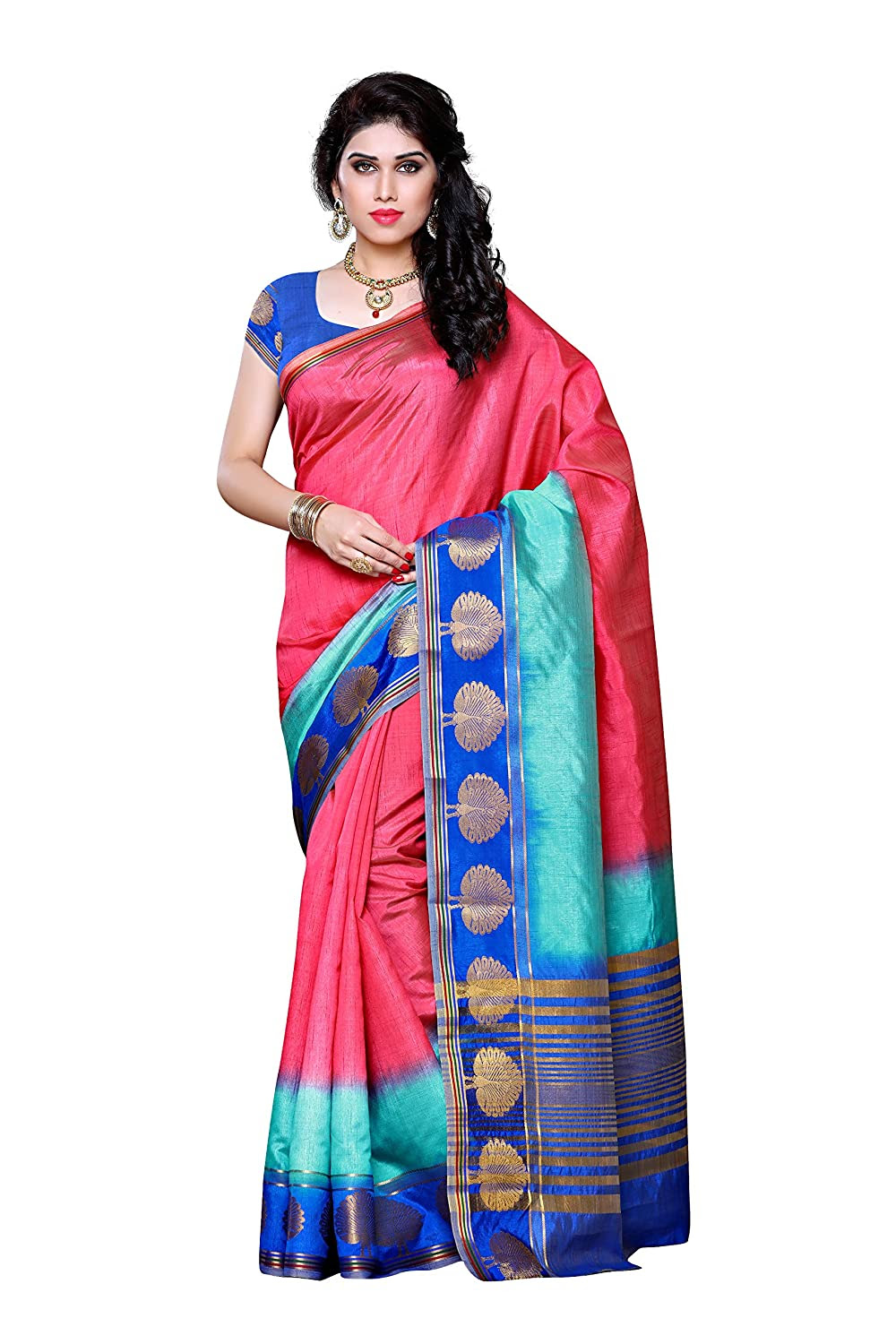 Mimosa Women's Traditional Art Silk Saree Tassar Silk With Blouse