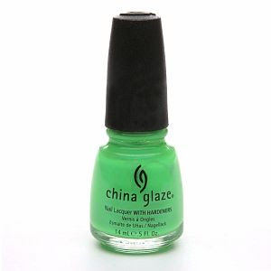 China Glaze Nail Laquer with Hardeners in In The Lime Light