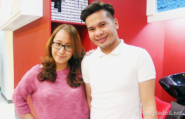 Sumi and Stylist Mike at Creations by Lourd Ramos Salon