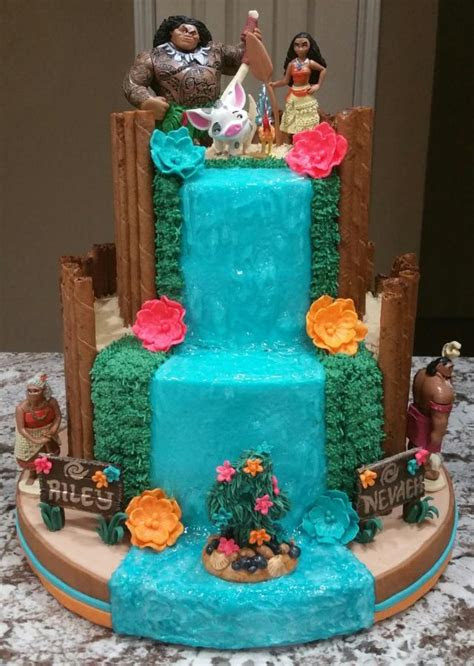 moana birthday cake cake  eiciedoesitcakes cakesdecor