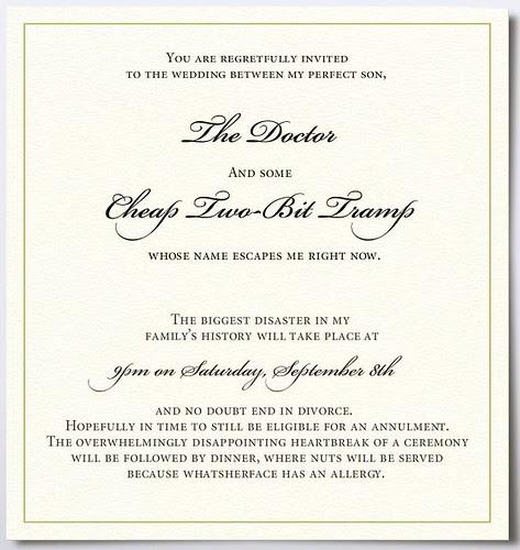 worst wedding invitation