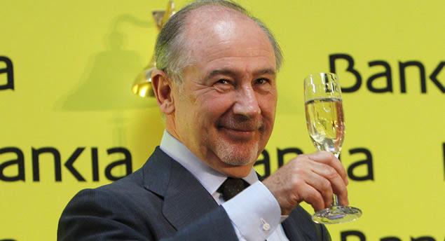 Rato celebra la estafa de Bankia