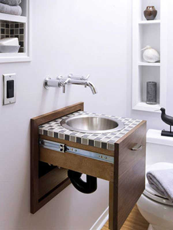 How To Hide Exposed Pipes Under Bathroom Sink Sink Ideas