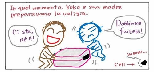 In quel momento, Yoko e sua madre preparavano la valiglia. Ci sta, ne'!!! Dobbiamo farcela! www... cell