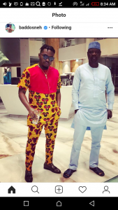 Olamide Looking Dapper In Fitted Ankara Outfit