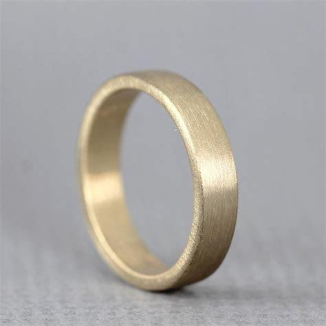 Yellow Gold Men's Wedding Band   14K Yellow Gold   Matte