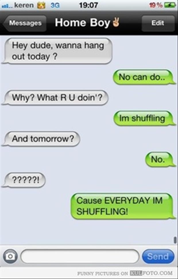 Funny Text Messages Dump A Day